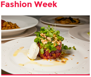 Enjoy Fashion Plate Prix Fixe For Breakfast, Lunch, Dinner and Brunch