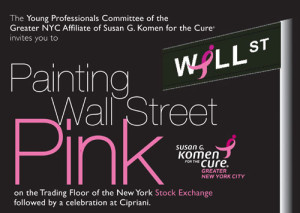 Painting Wall Street Pink 2014 with Hoda Kotb