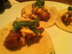 MXDC's beer battered 'Mahi Mahi' tacos are delish!