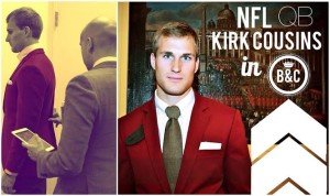 Kirk Cousins in Brimble and Clark