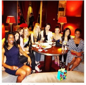 Sip With Socialites at Le Bar in Hotel Sofitel Washington DC Lafayette Square sampling wines.