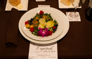 The affair was catered by Qcaterers DC