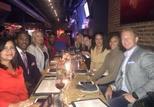 2015 Chance for Life Host Committee meeting with Claudia Eden, Chädleón Bookér, Lisa Sigler, Xavier Nightlyfe Alexander, Sheena Cole, Frances Holuba and Ashley Boalch Darby at MASA 14