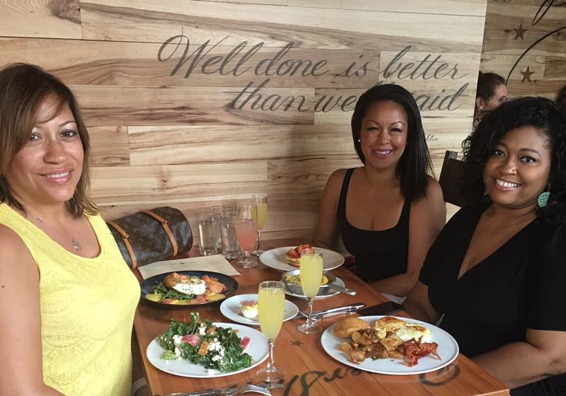 Brunching at Declaration (L to R) Lisa Sigler, Eve Monica, Erica Hankerson