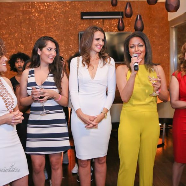 Sip With Socialites fund raising with Ashley Darby at Oz Restaurant and Bar in Clarendon for Manifest your Destiny Foundation.  (L - R) Ashley Boalch Darby, Tahera Zamanzada, Jana Sedlakova, Eve Edmonds,Monica Matthews